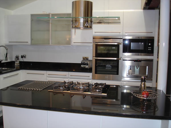 Espresso Kitchen Black Cabinets With Glass Doors Kitchens Andrine