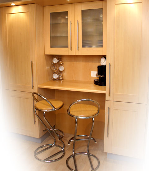 fitted kitchen with breakfast area